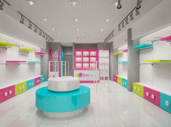 Дизайн проект детского магазина